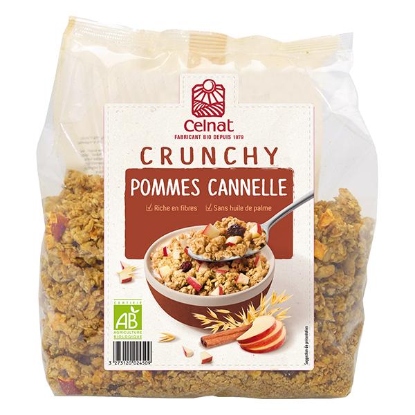 Crunchy pommes cannelle BIO, Celnat (500 g)