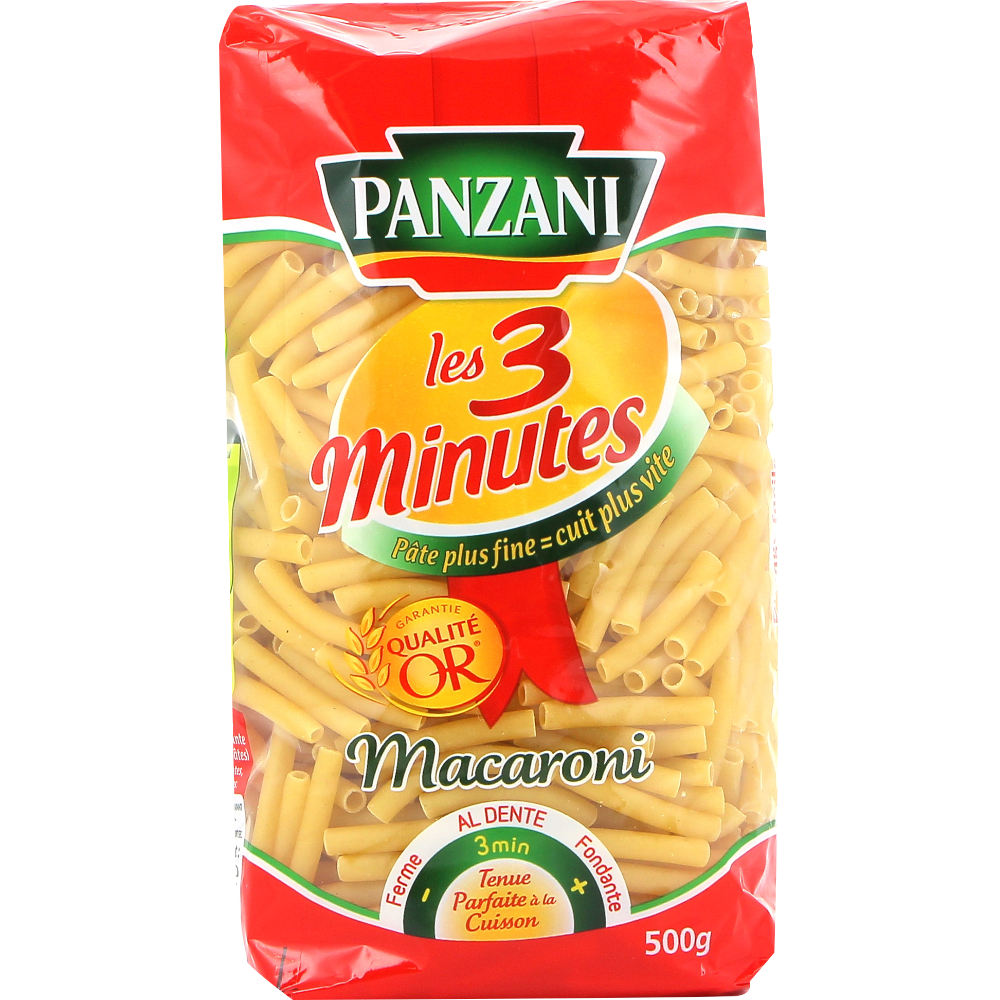 Macaroni cuisson rapide, Panzani (500 g)