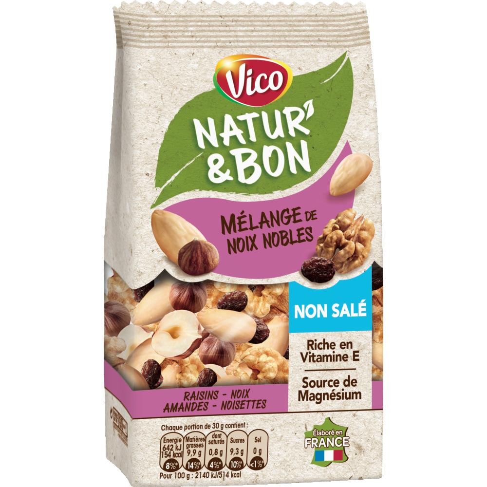 Natur' & Bon mélange noix nobles non salées, Vico (200 g)