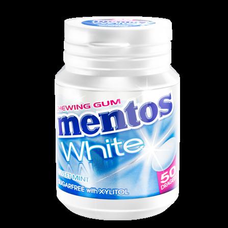 Chewing-gum Mentos White Menthe douce (40 dragées)