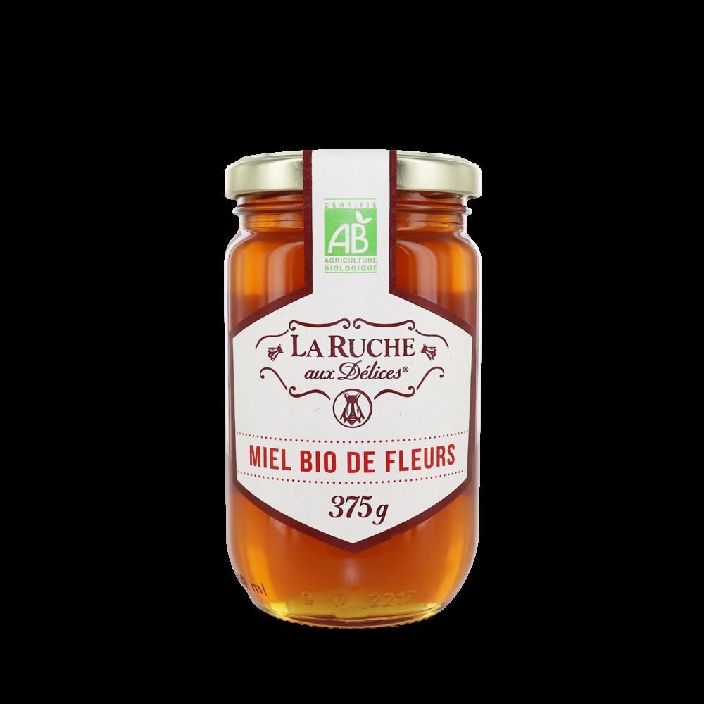 Miel de fleurs liquide BIO, La Ruche aux Délices (375 g)