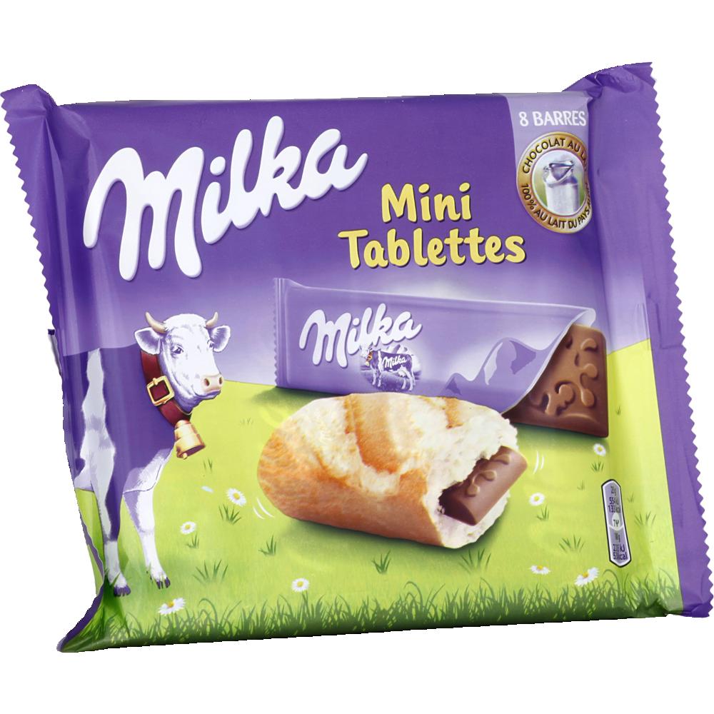Mini tablettes Milka au lait (8 x 25 g)