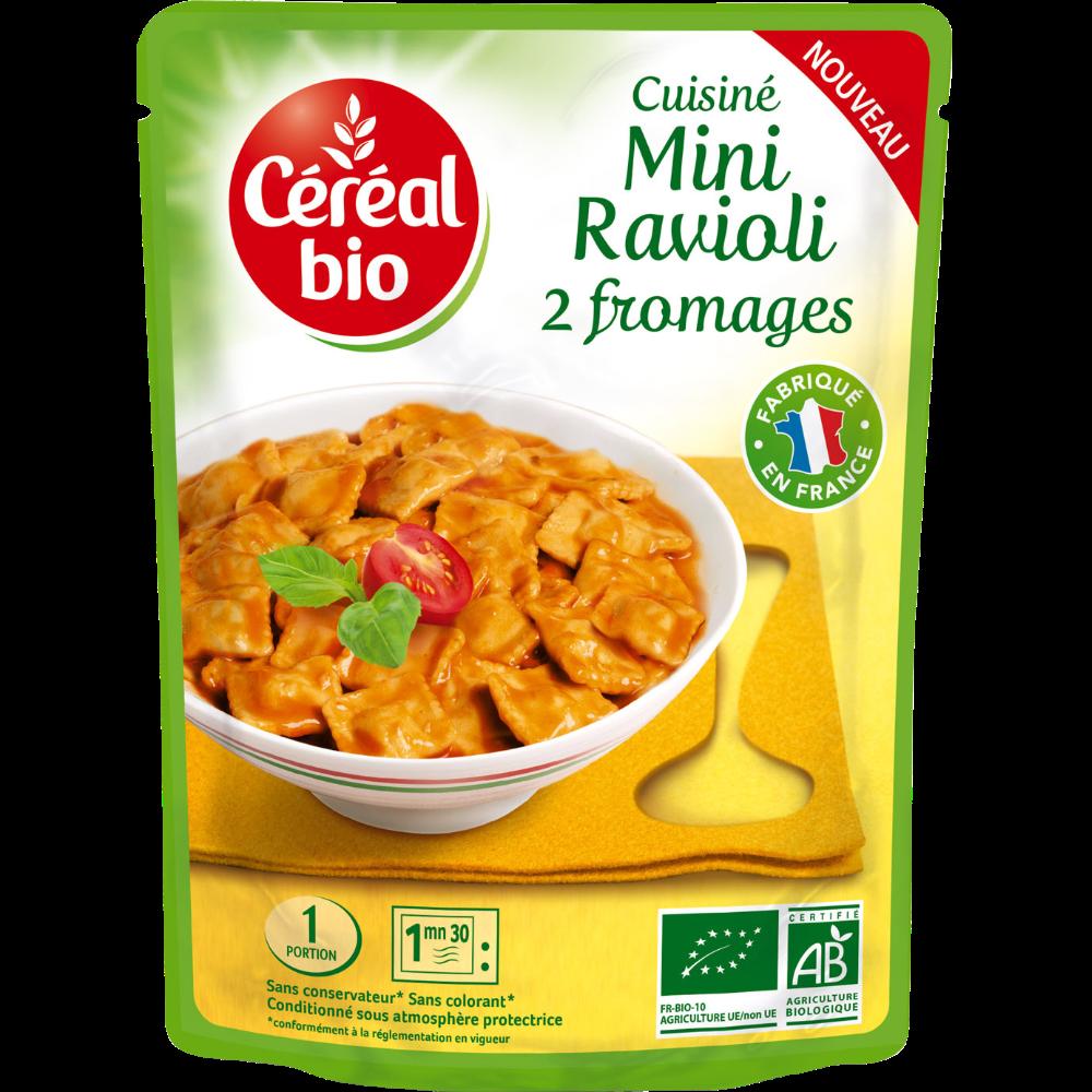 Minis raviolis 2 fromages BIO, Céréal Bio (250 g)