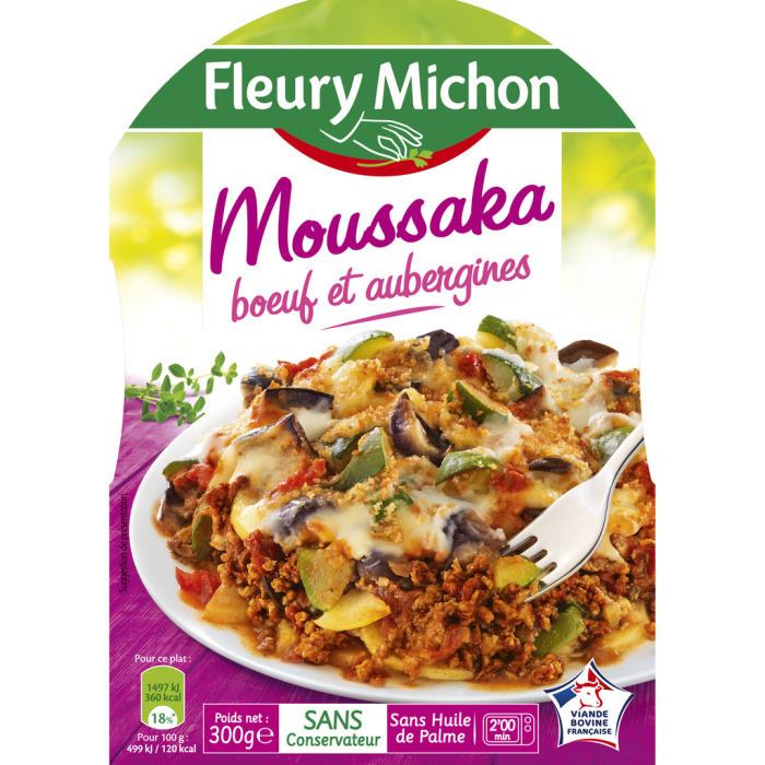 Moussaka boeuf aubergines, Fleury Michon (300 g)