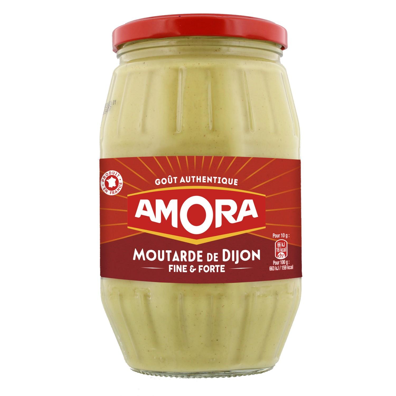 Moutarde fine et forte de Dijon, Amora (915 g)