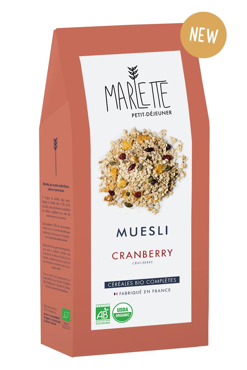 Muesli cranberry Bio, Marlette (350 g)