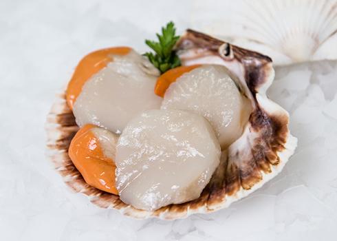 Noix de Saint Jacques avec corail de Normandie (150 g)