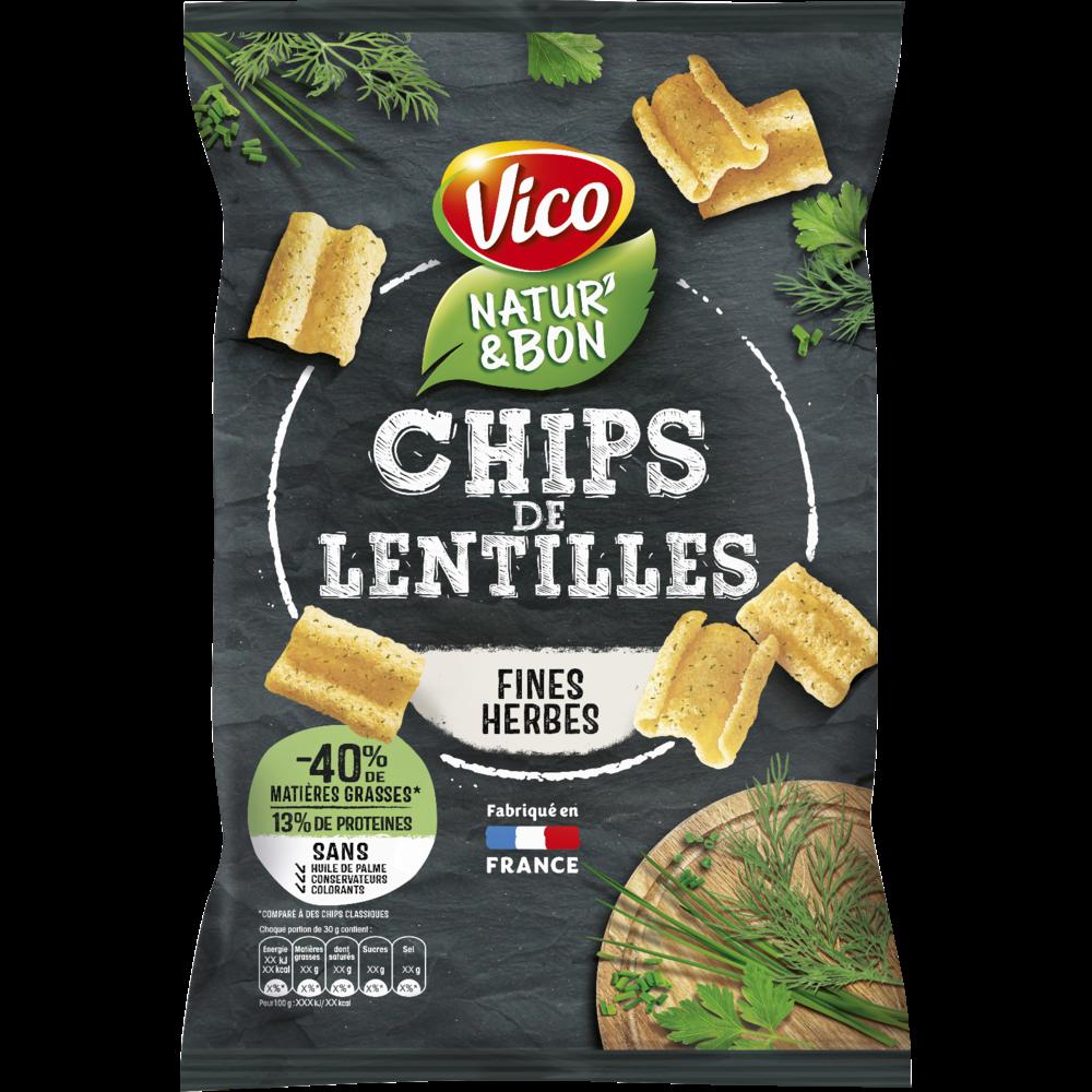 Natur'& bon Chips de lentilles et fines herbes, Vico (85 g)