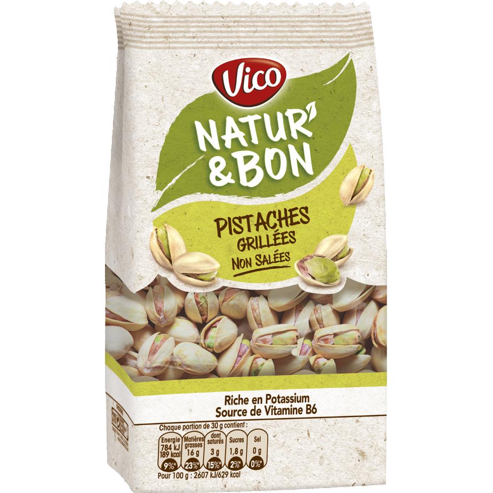 Natur' & Bon pistaches grillées non salées, Vico (200 g)