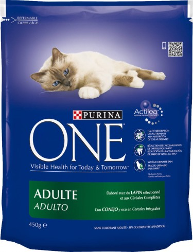 Croquettes pour chat au lapin, Purina One (450 g)