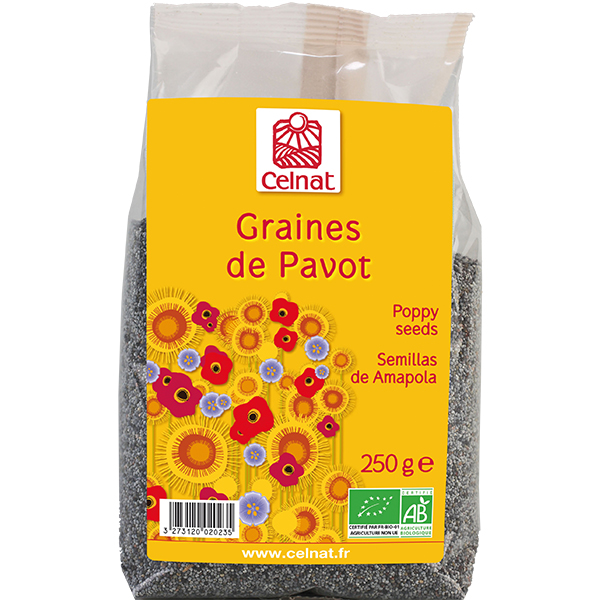 Graines de pavot BIO, Celnat (250 g)