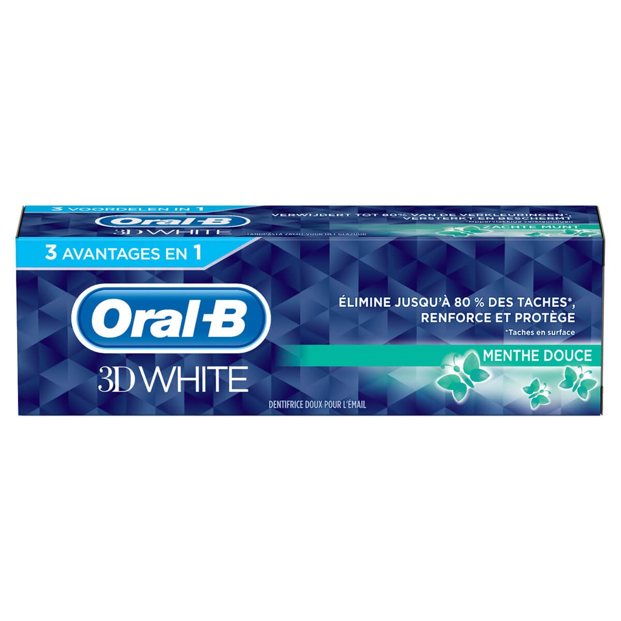 Dentifrice 3D White, Oral B (75 ml)