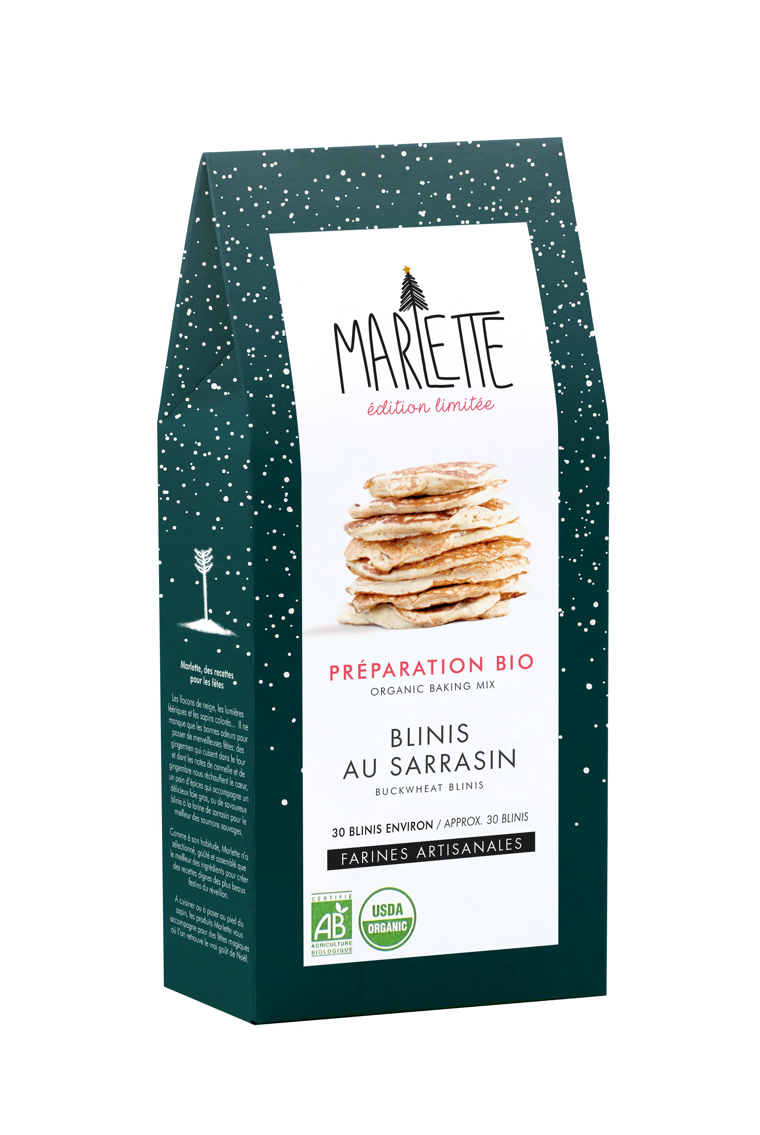 """Préparation """"Blinis au sarrasin"""" Bio, Marlette"""