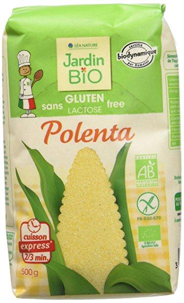 Polenta sans gluten BIO, Jardin Bio (500 g)