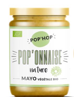 """Mayonnaise végétale BIO """"Pop'onnaise"""", Pop'Hop (125 g)"""