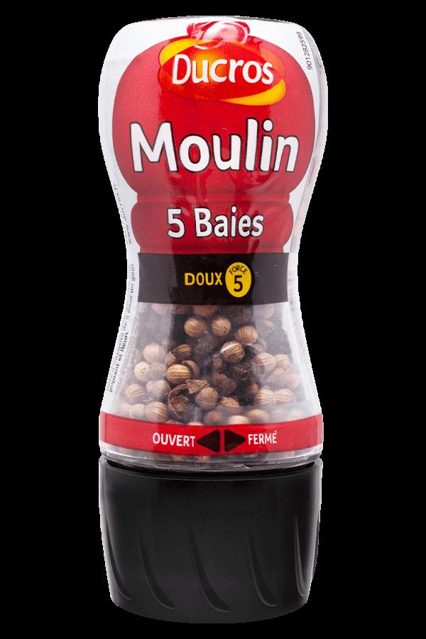 Moulin poivre 5 Baies, Ducros (24 g)