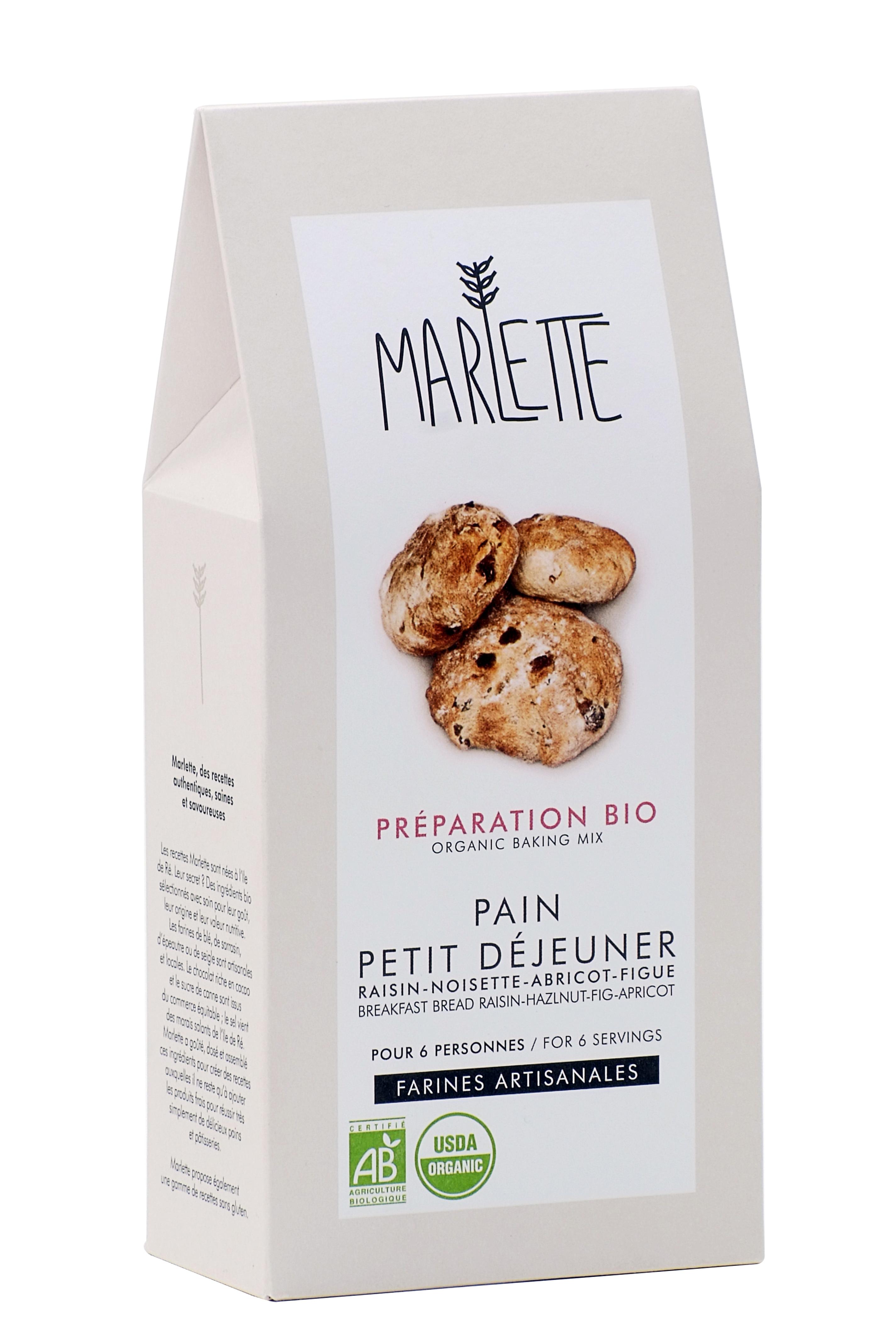 """Préparation """"Pain petit-déjeuner"""" Bio, Marlette"""