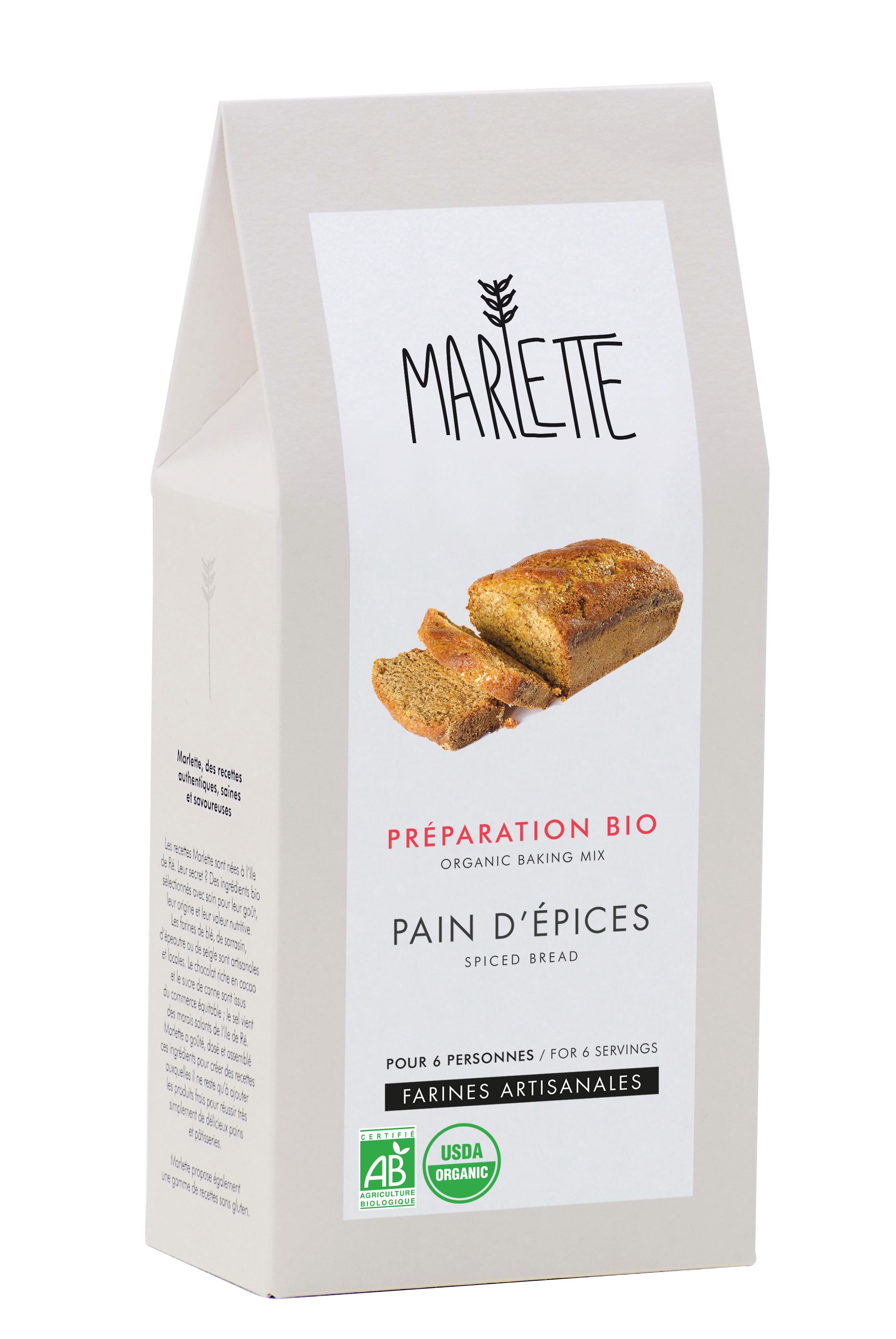 """Préparation """"Pain d'épices"""" Bio, Marlette"""