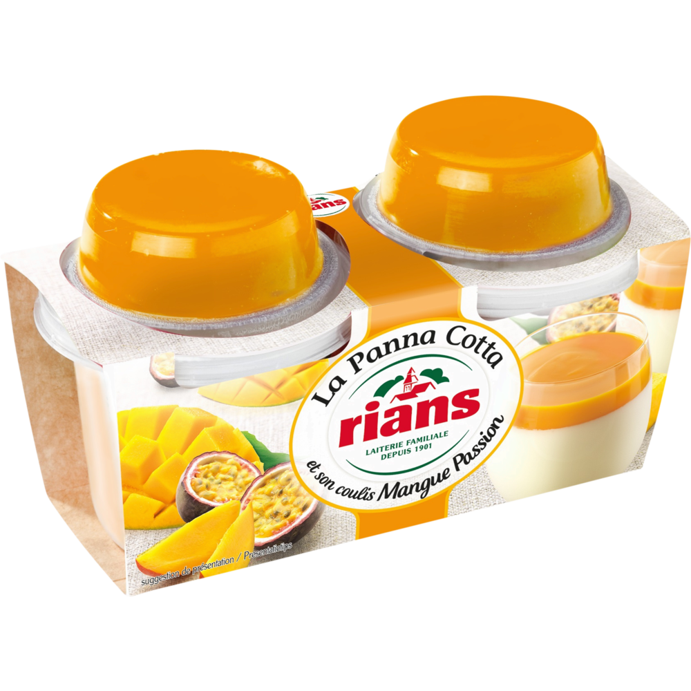 Panna Cotta Coulis  mangue passion, Rians (2 x 120 g)