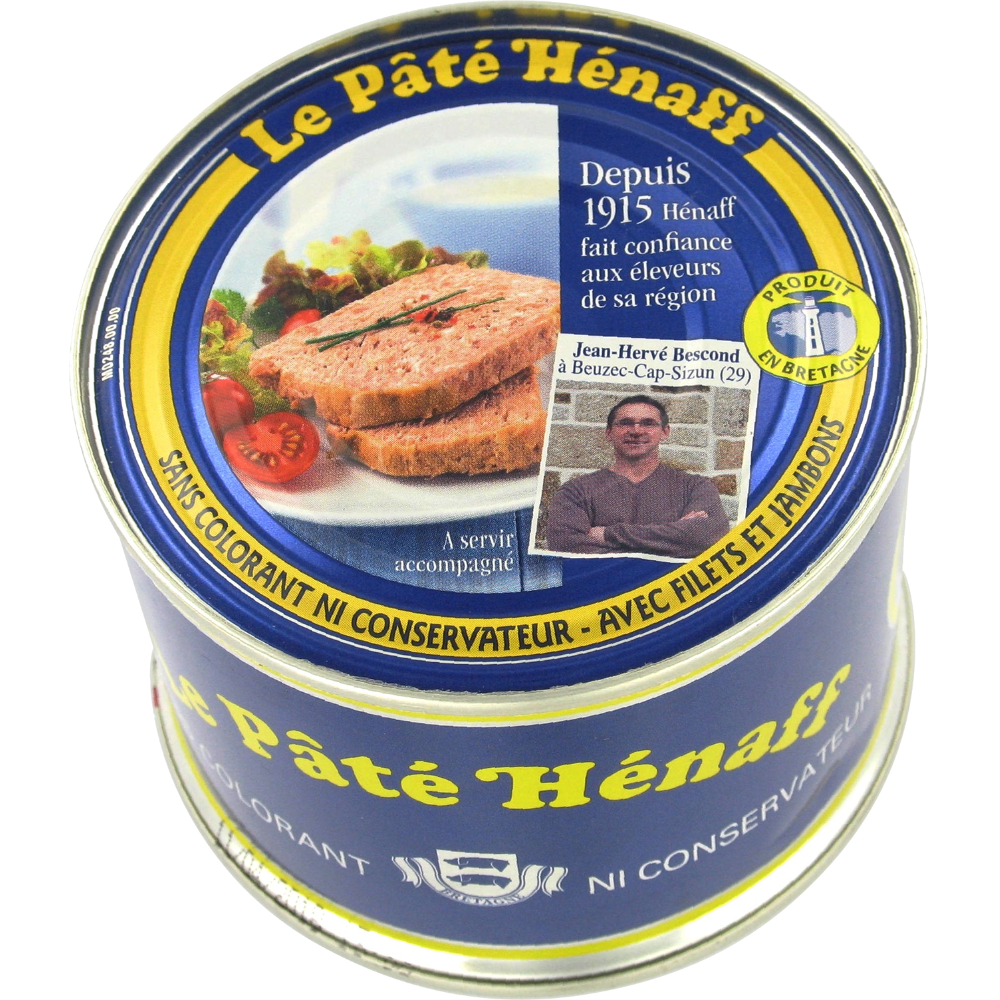 Pâté pur porc, Hénaff (260 g)