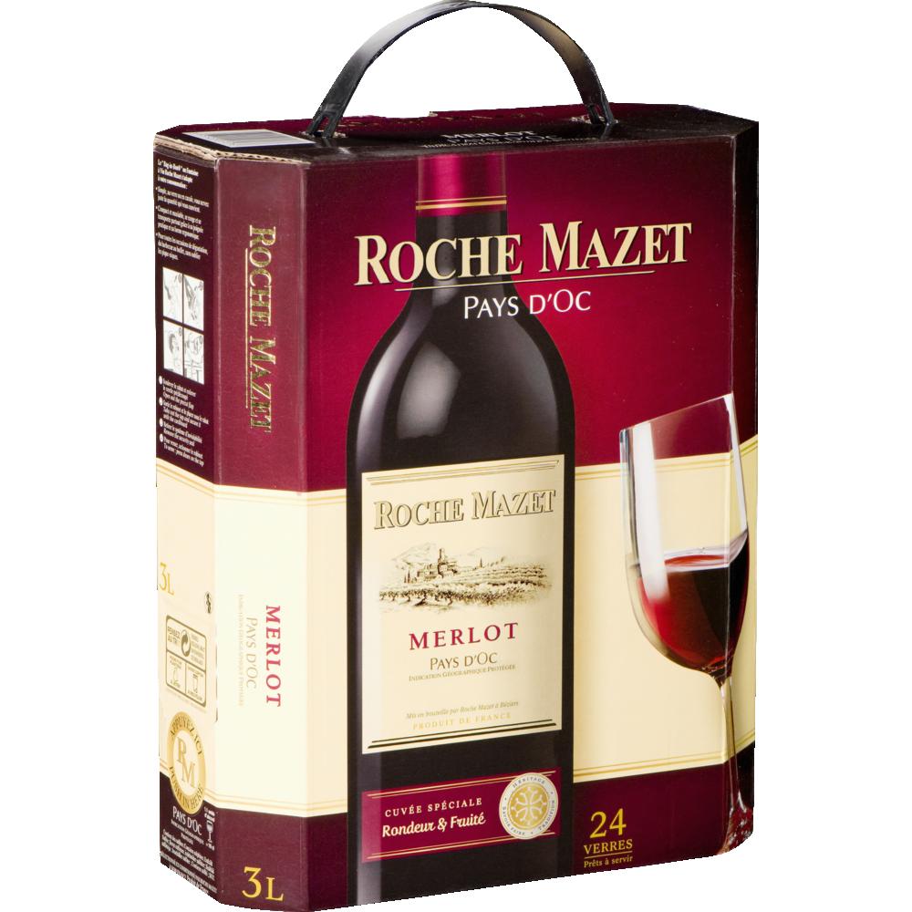 Pays d'Oc IGP Merlot Roche Mazet 2018 (3 L)