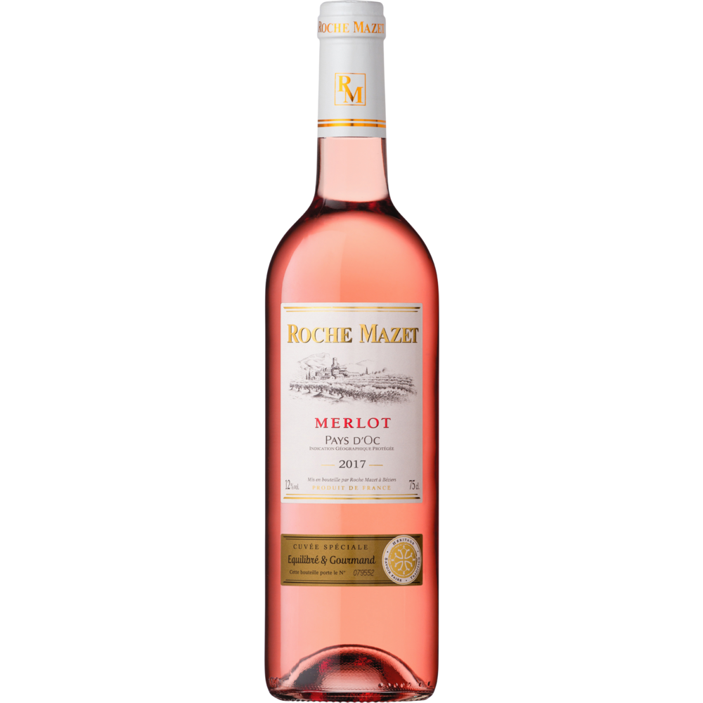 Pays d'Oc IGP Merlot Rosé Roche Mazet (75 cl)