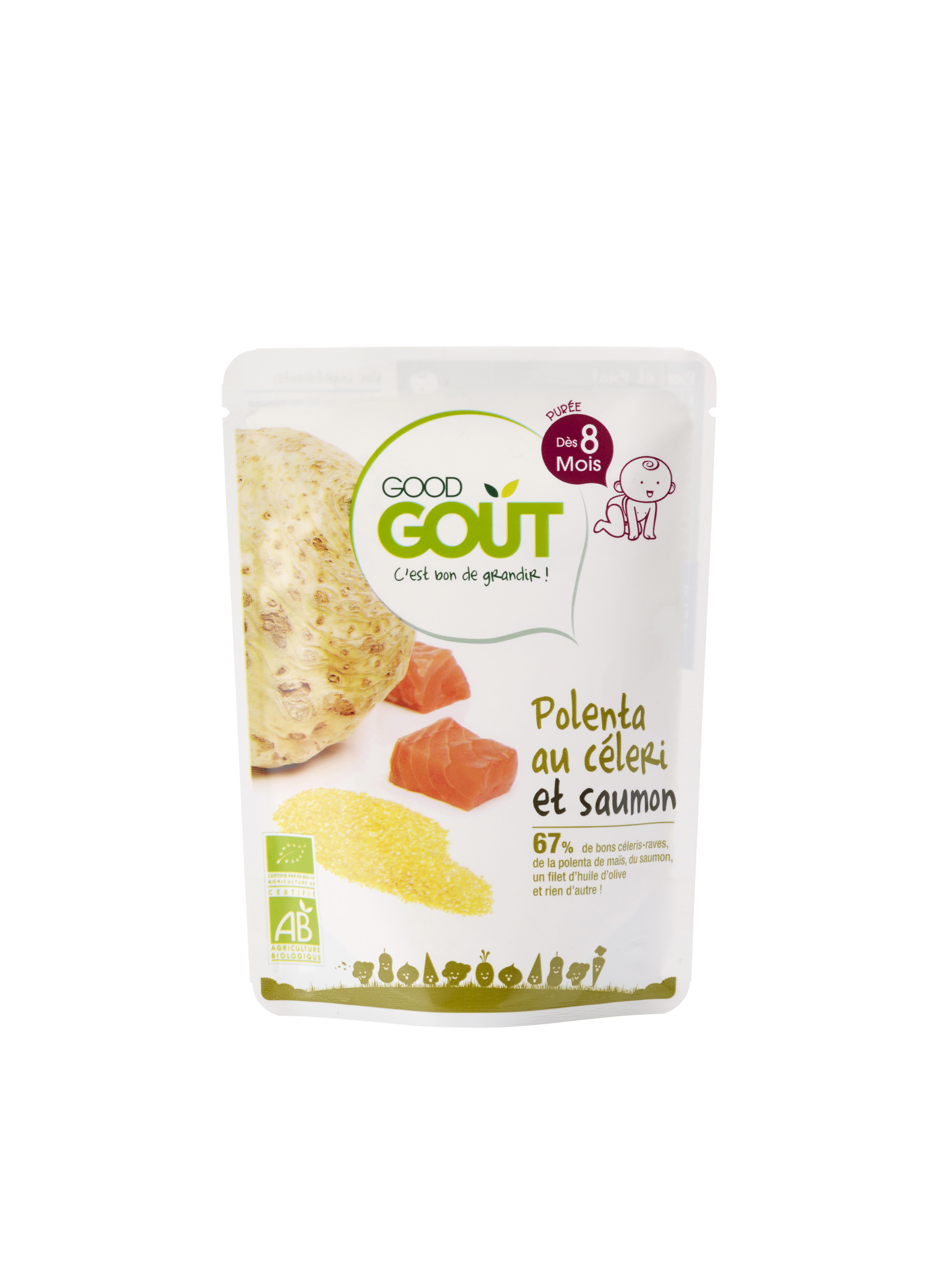 Polenta au céleri et saumon BIO, Good Goût (190 g) - dès 8 mois