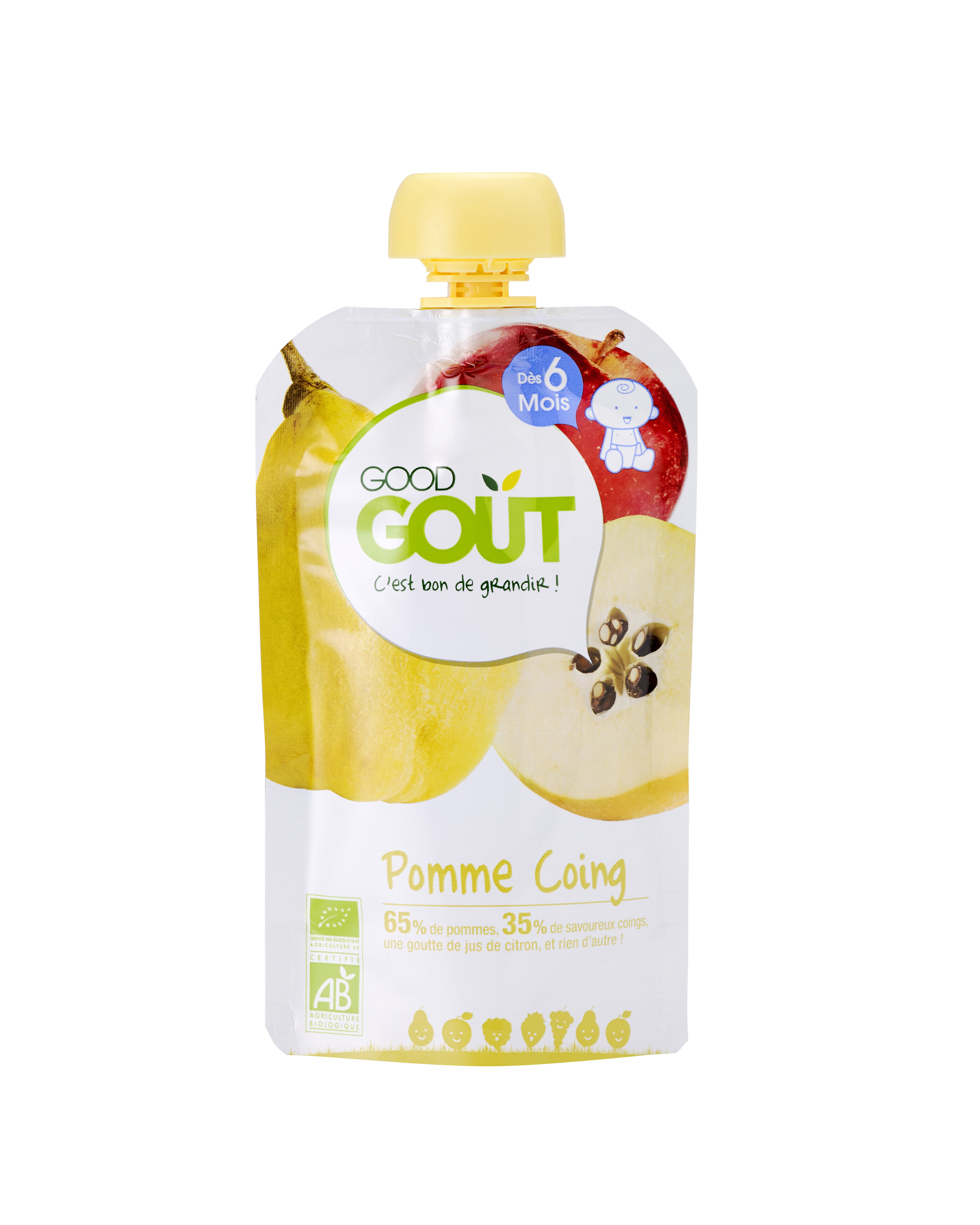 Good Gourde Pomme Coing BIO, Good Goût (120 g) - dès 6 mois
