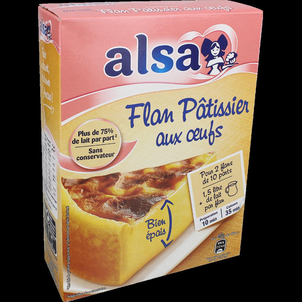 Préparation pour flan pâtissier aux oeufs, Alsa (2 dos