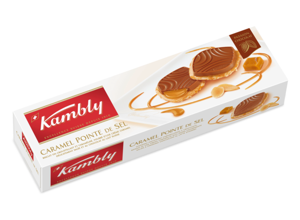 Biscuits au cœur au caramel, Kambly (100 g)
