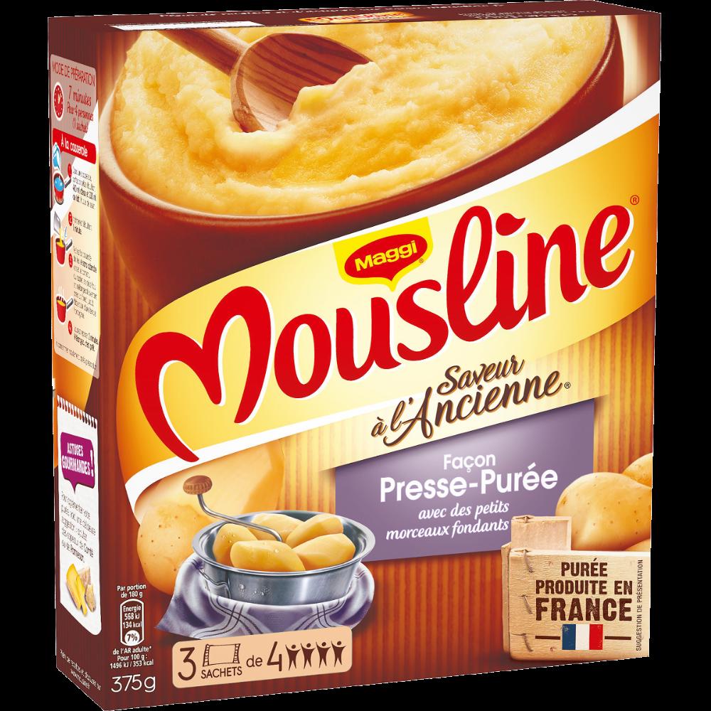 Purée façon presse-purée Mousline, Maggi (3 x 125 g)