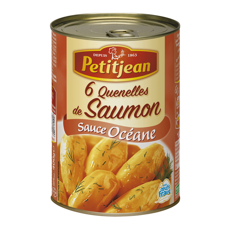Quenelles de saumon sauce Océane, Petitjean (400 g)