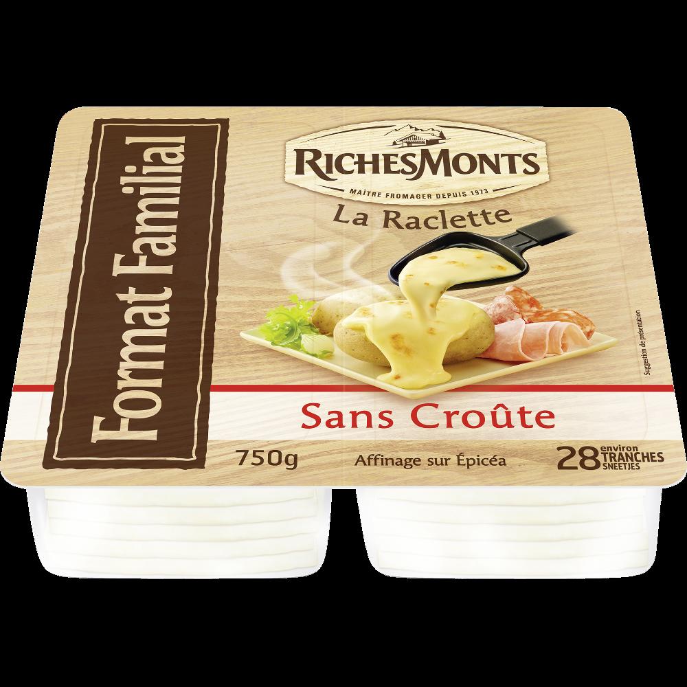 Raclette Sans Croûte, RichesMonts (28 tranches, 750 g)