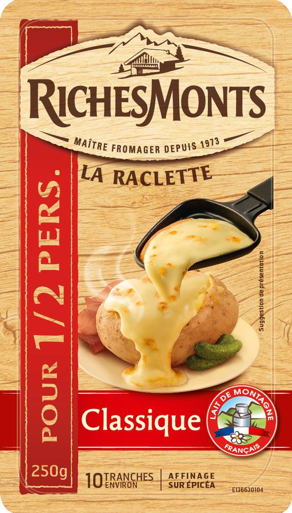 Raclette classique, RichesMonts (10 tranches, 250 g)