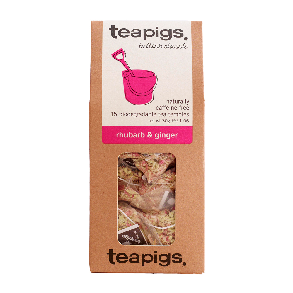Thé rhubarbe et gingembre, Teapigs (x 15 sachets)