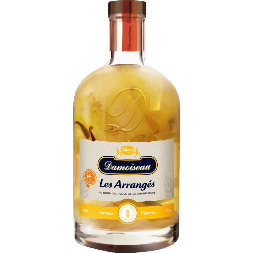 Rhum arrangé ananas vanille, Damoiseau (70 cl)