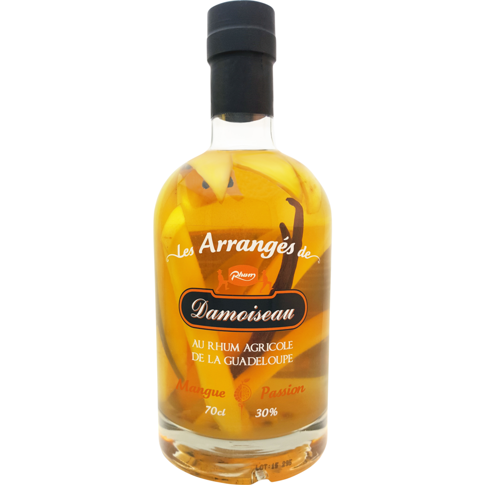 Rhum arrangé mangue passion, Damoiseau (70 cl)
