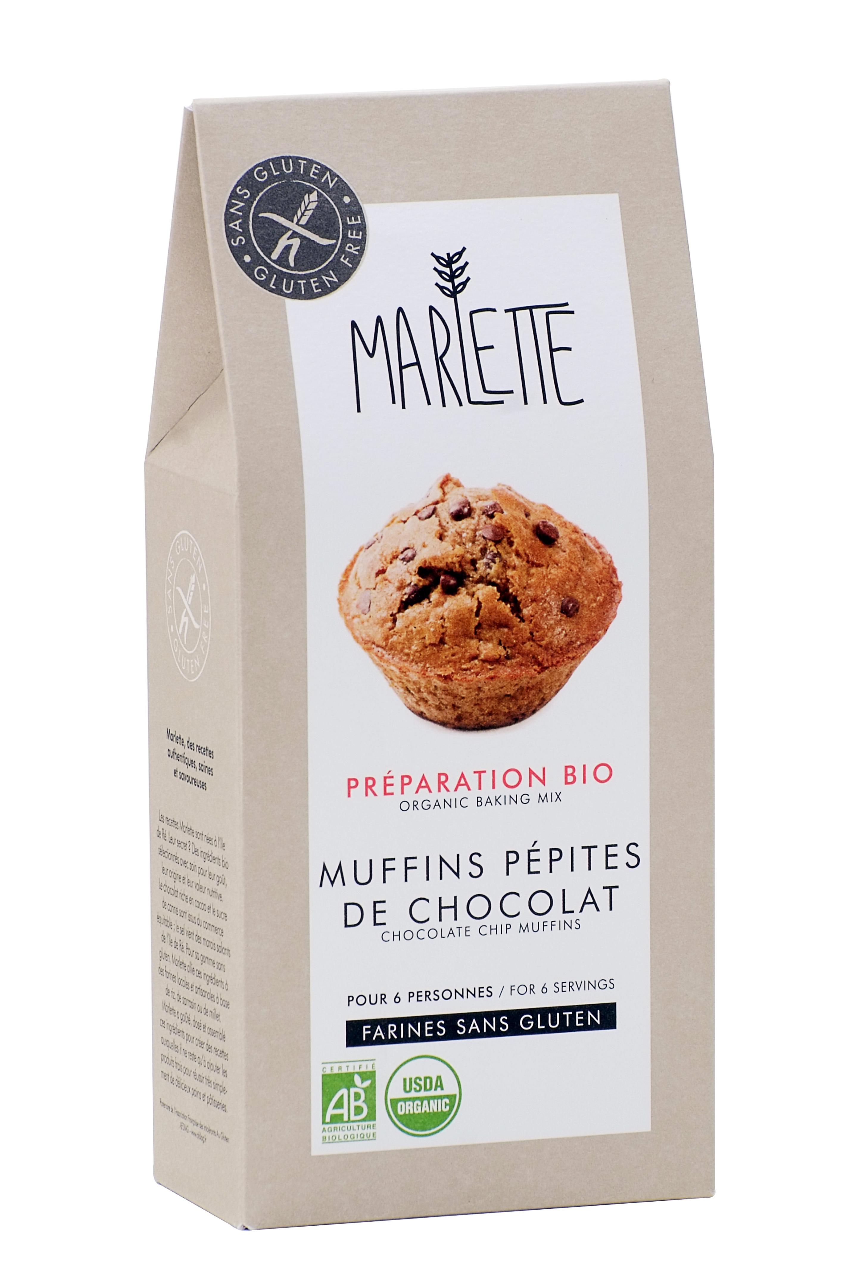 """Préparation """"Muffins aux pépites de chocolat"""" Sans Gluten & Bio, Marlette"""