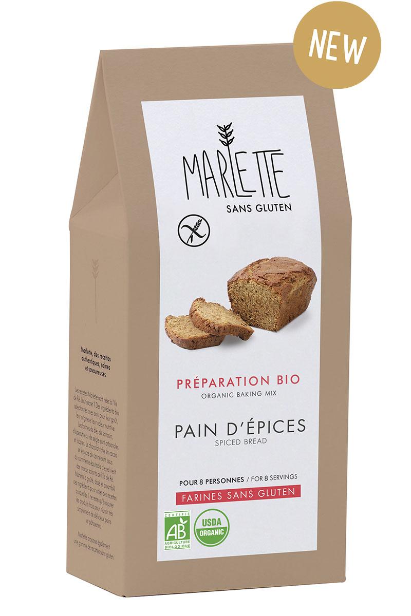 """Préparation """"Pain d'épices"""" Sans gluten & Bio, Marlette (280 g)"""
