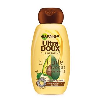 Shampoing à l'avocat et au karité, Ultra Doux (400 ml)