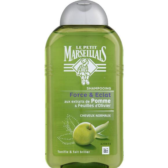 Shampoing cheveux normaux pomme/olive, Le Petit Marseillais (250 ml)