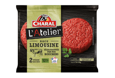 Steack haché Limousin 12% MG, Charal (2 x 130 g)