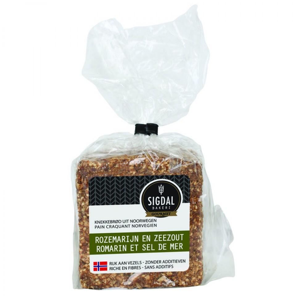Pain craquant Norvégien - Romarin et sel de mer, Sigdal Bakeri (160 g)