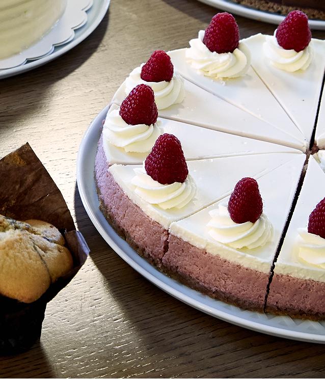 Grand cheesecake framboise chocolat blanc Rachel's Cake (36 heures à l'avance)