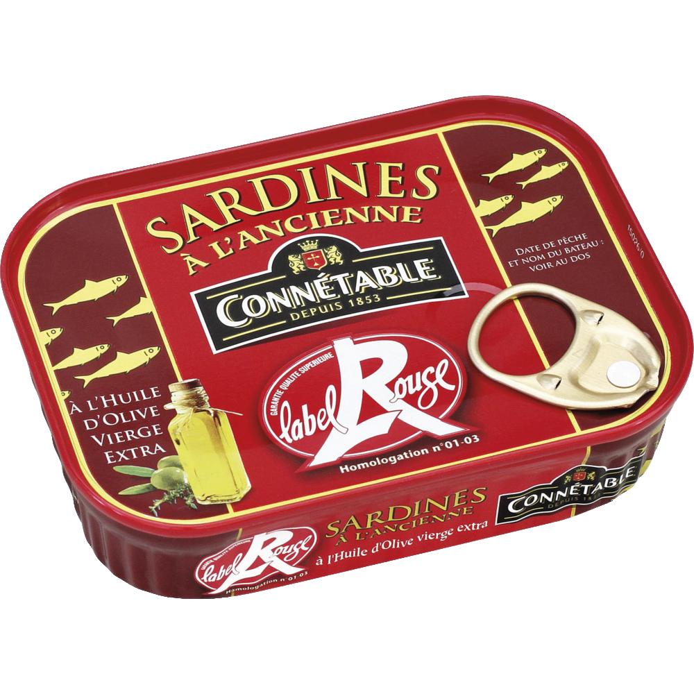 Sardines de Bretagne à l'huile d'olive Label Rouge, Connetable (135 g)