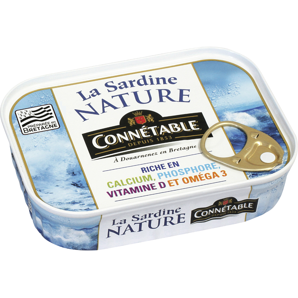Sardines Nature, Connetable (95 g)