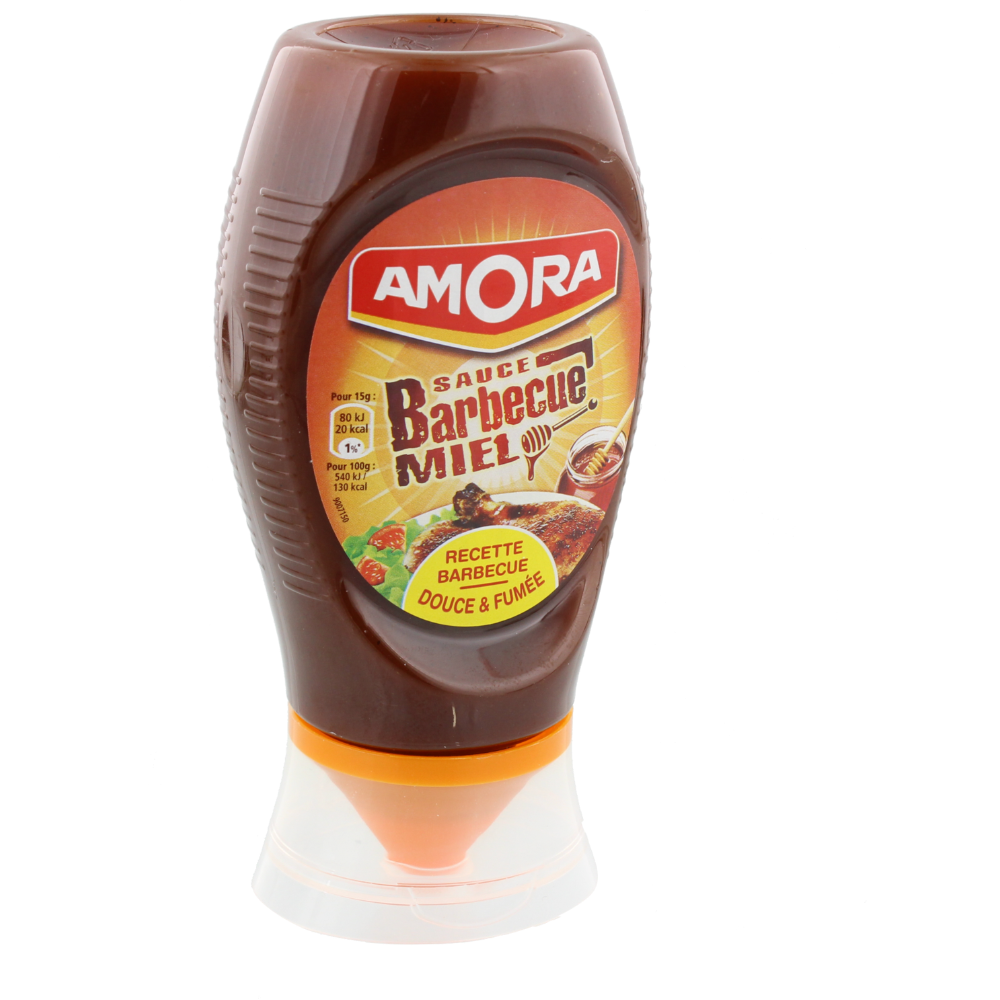Sauce barbecue au miel flacon souple, Amora (282 g)