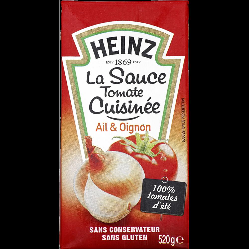 Sauce tomate cuisinée à l'ail et aux oignons, Heinz (520 g)