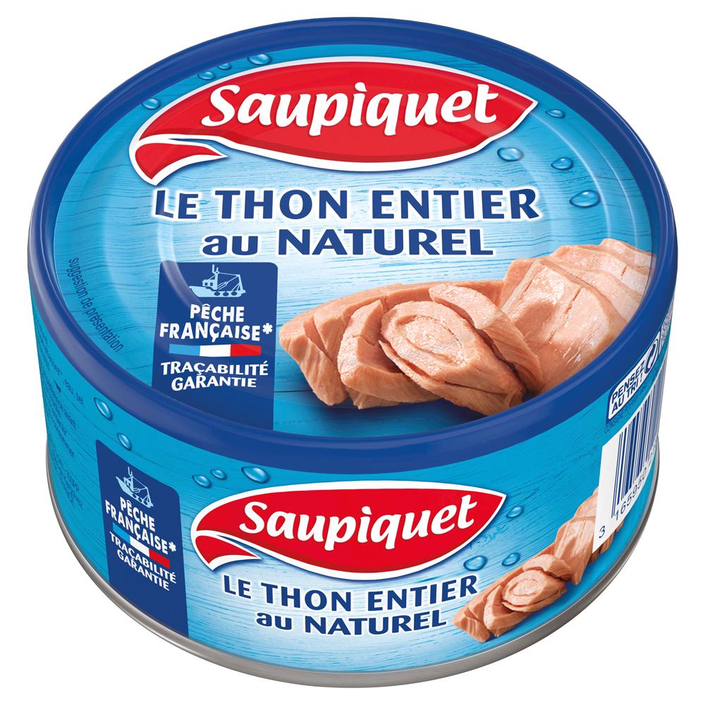 Thon entier naturel Pêche française, Saupiquet (400 g)