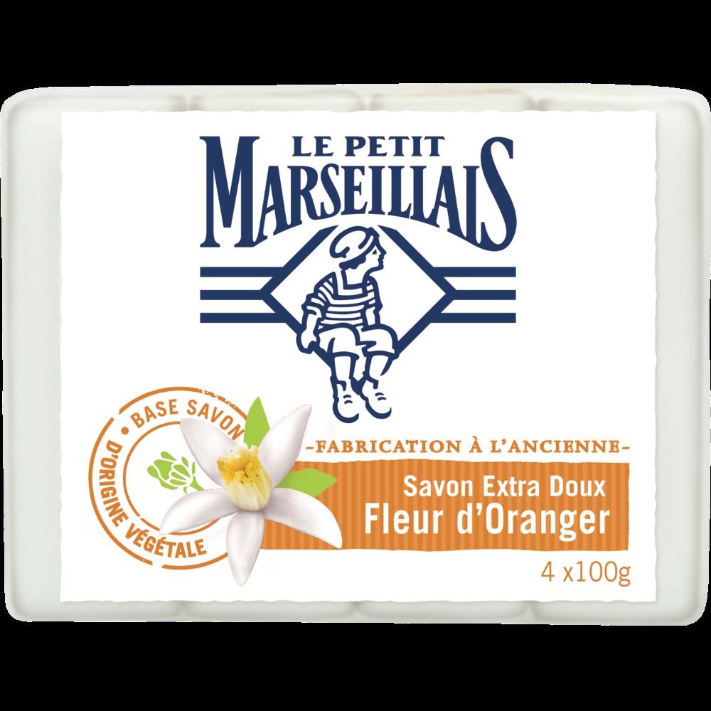 Savon extra doux fleur d'oranger, Le Petit Marseillais (4 x 100g)